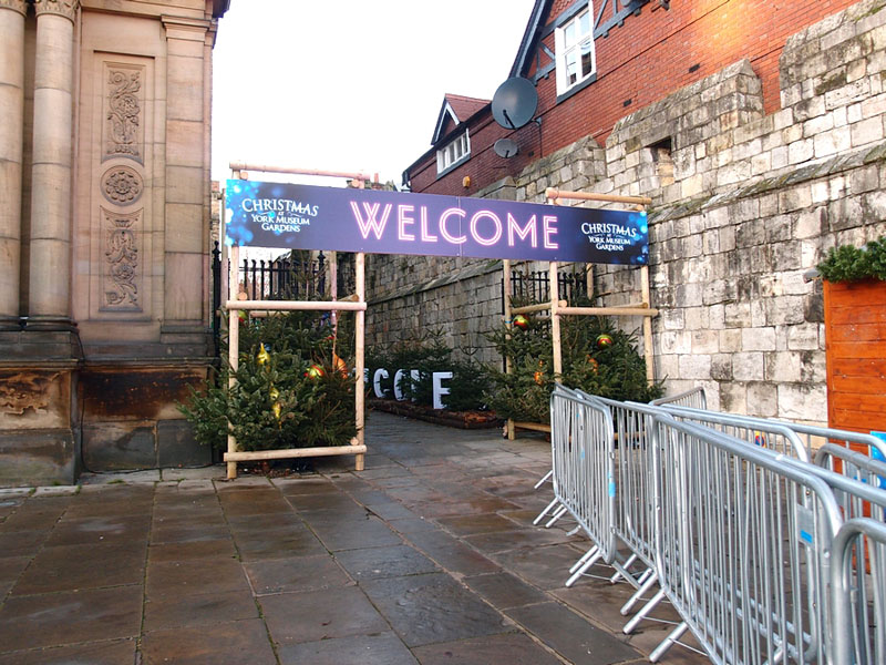 Entrance to the festive attraction