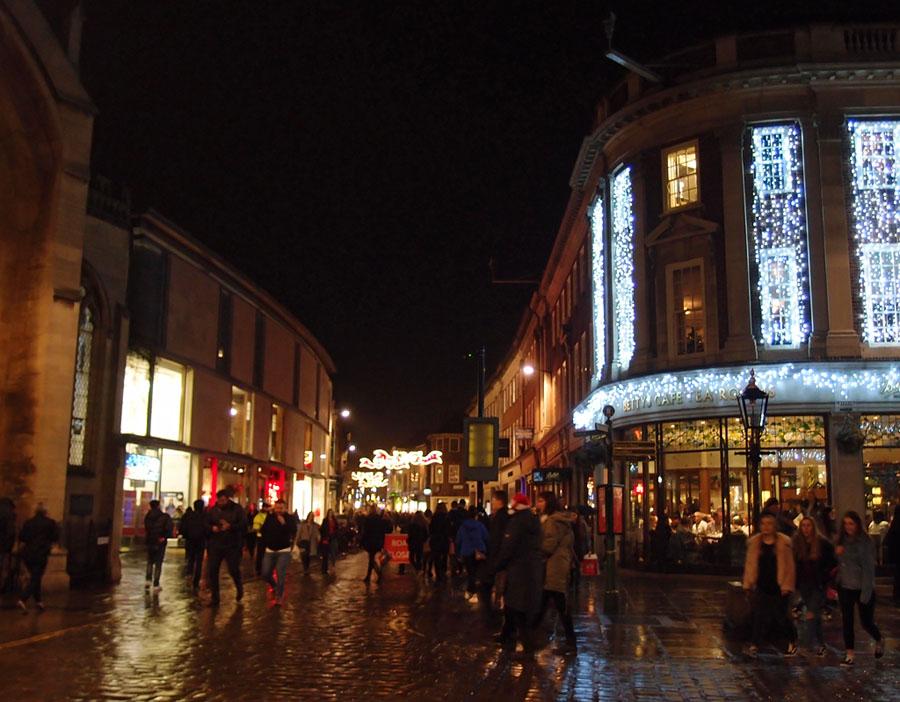 Christmas lights, Davygate, 21 Dec 2017