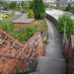 Cinder Lane and railway lands, 2004 and now