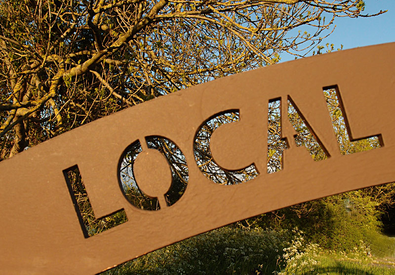 'Local' - Clifton Backies sign