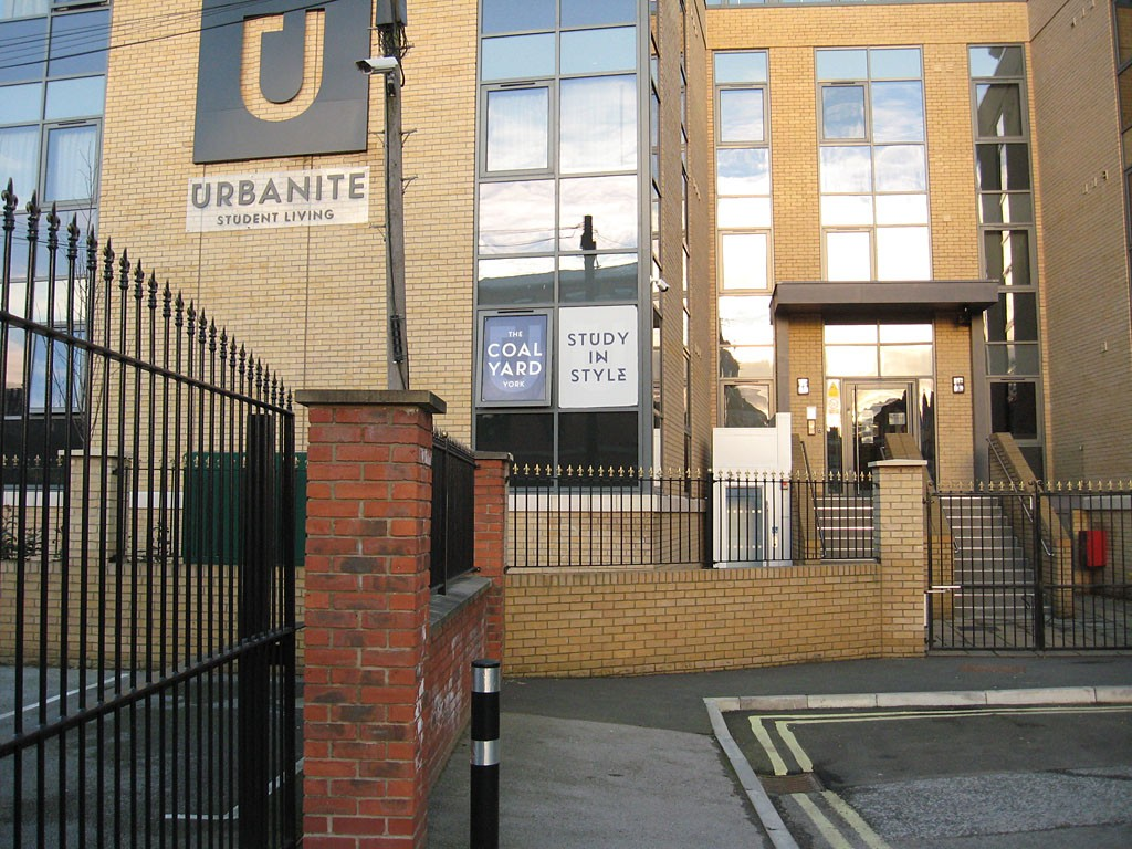 Student accommodation on the site of the former coal yard, Mansfield St