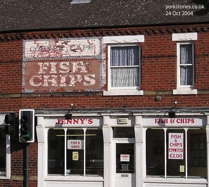 Ghost sign, Fish and Chips