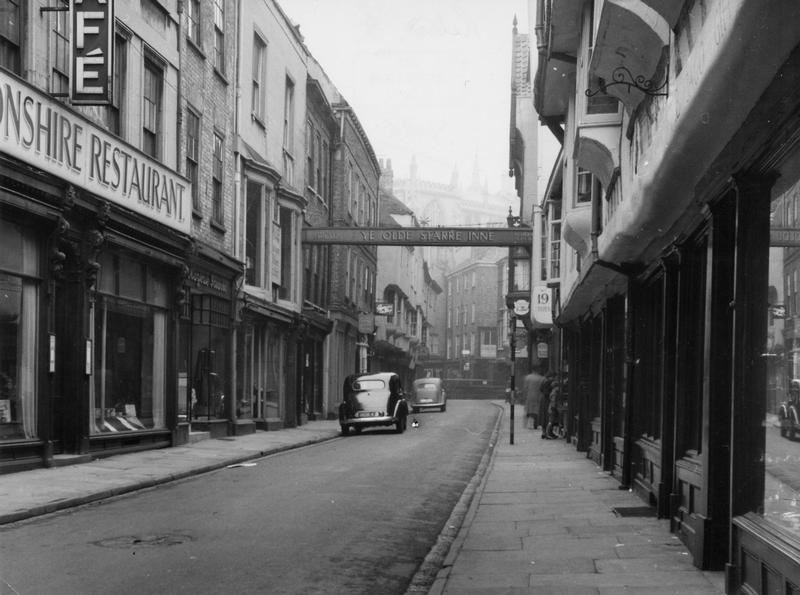 Stonegate in the 1940s/50s. Photo: Explore York Libraries and Archives