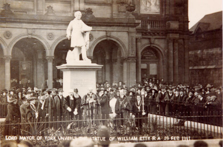 Exhibition Square, Etty statue unveiled, Feb 1911