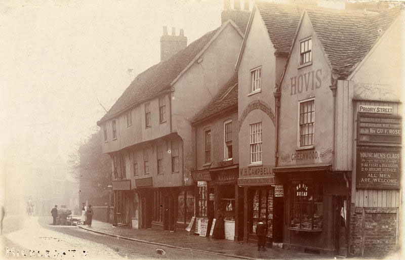Micklegate and Priory St corner, a long long time ago. Get your Hovis here. (c) City of York Council