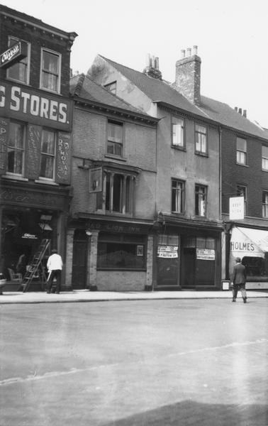 Black and white photo, street scene, 1930s