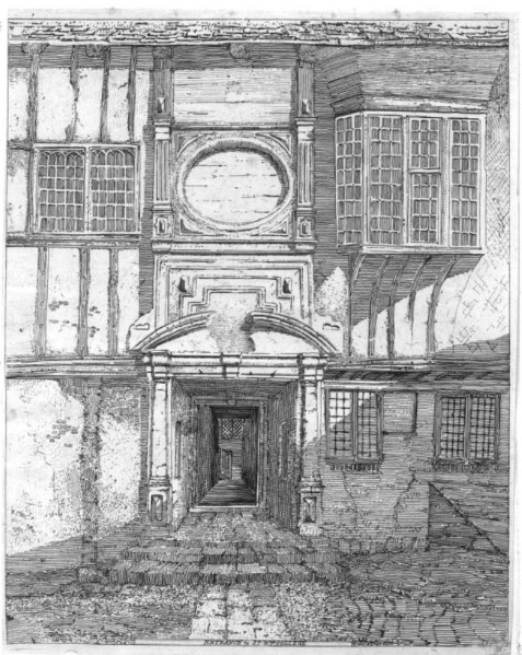 Doorway in St William's College, Henry Cave (1813)