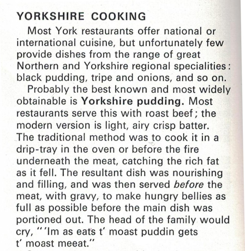 Yorkshire puddings, tripe and onion ...