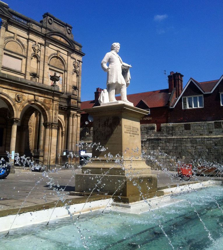 Etty statue and fountain, Exhibition Square, July 2015
