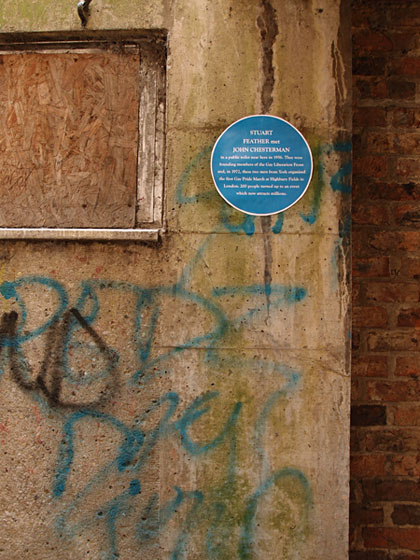 Handmade 'blue plaque'