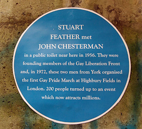 Blue plaque (temporary, unofficial)