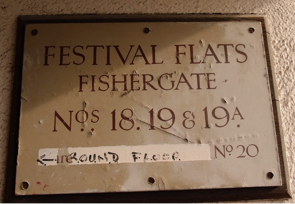 Sign on Festival Flats, Fishergate