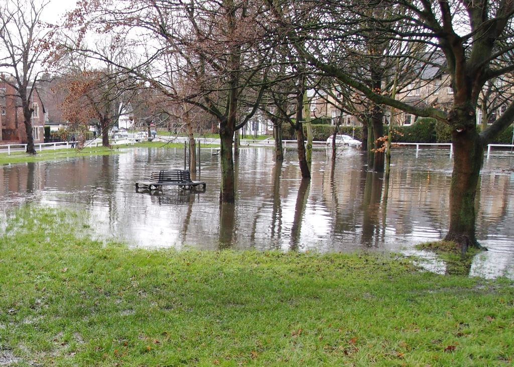 Clifton Green flooded, 2.21pm, 26 Dec 2015