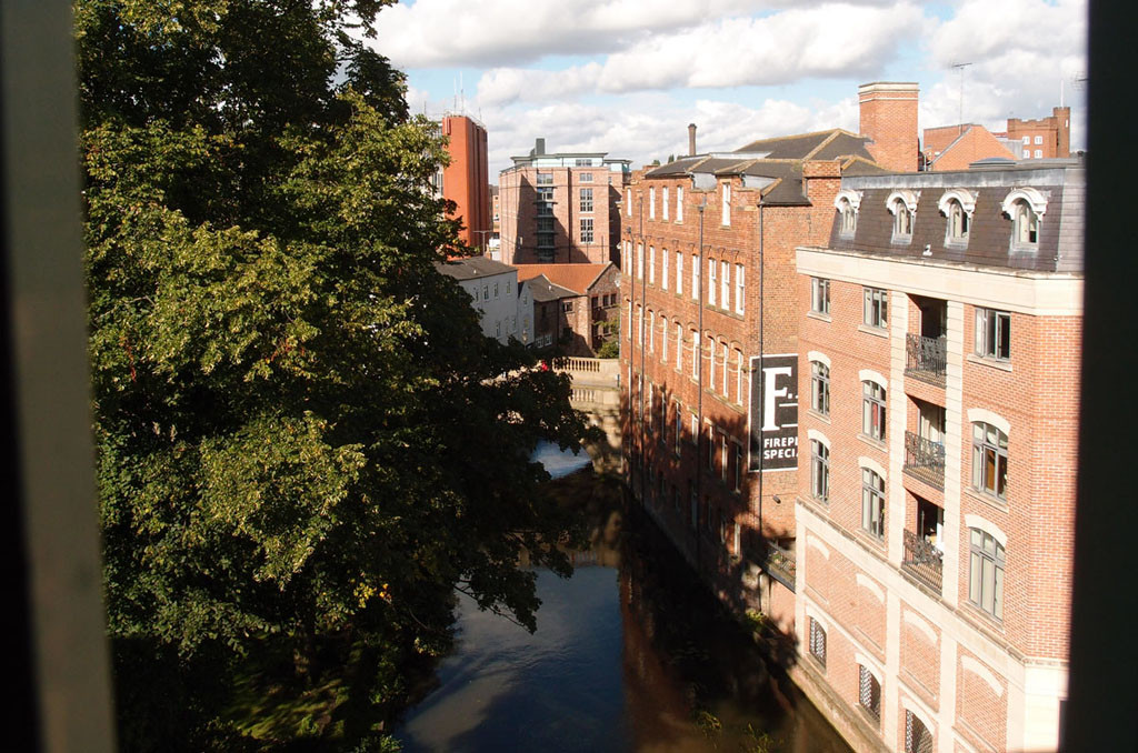 River Foss view from the multi-storey Piccadilly car park, August 2017