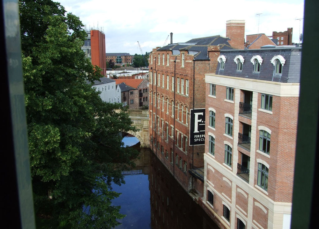 River Foss from the multi-storey Piccadilly car park, July 2007