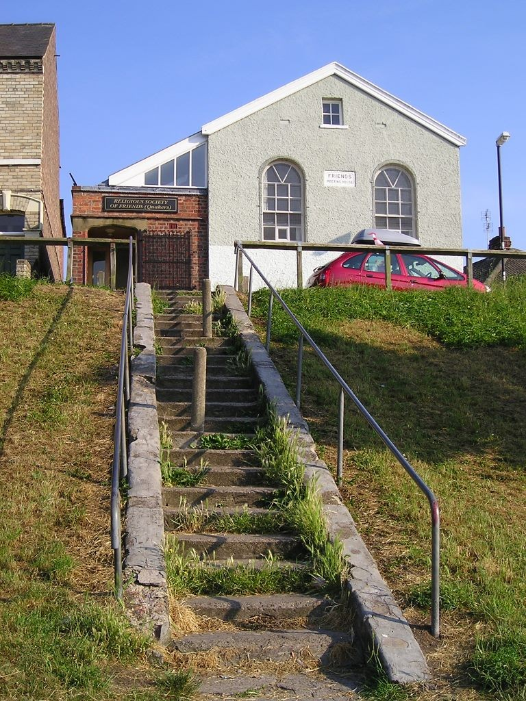 Friends Meeting House and Acomb Green steps, 3 July 2006