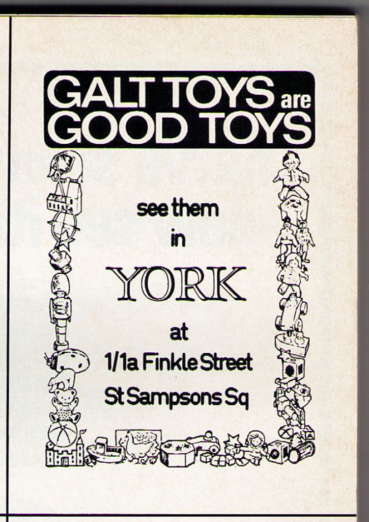 Early 1980s ad: Galt Toys, York