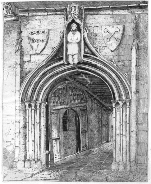 Gateway to St William's College, Henry Cave (Antiquities of York, 1813)