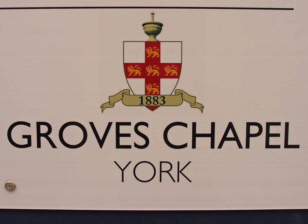 Logo for Groves Chapel development