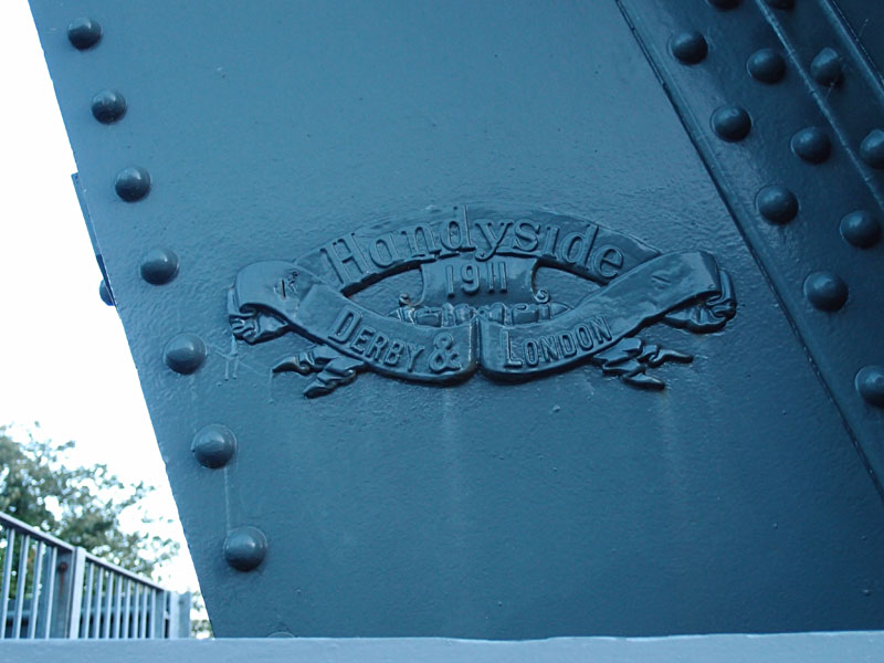 Handyside, maker's plaque, Holgate Bridge