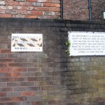 Forbidding signs, office car park