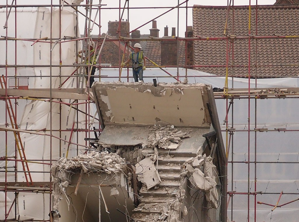 Hudson House demolition, 3 Sept 2018