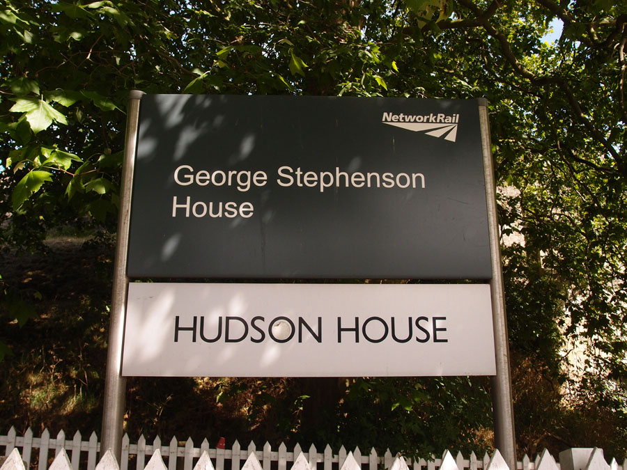 Hudson House sign, 1 July 2018, Queen Street
