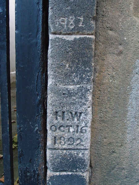 Carved inscriptions