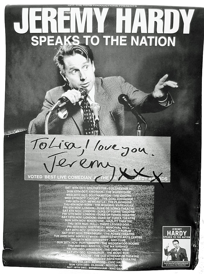 Promotional poster, signed