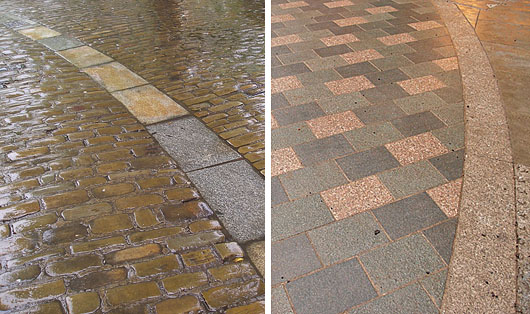 Paving, old and new
