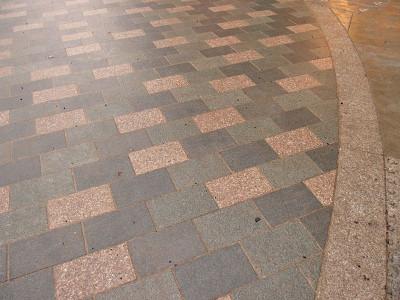 Block paving, multi-coloured