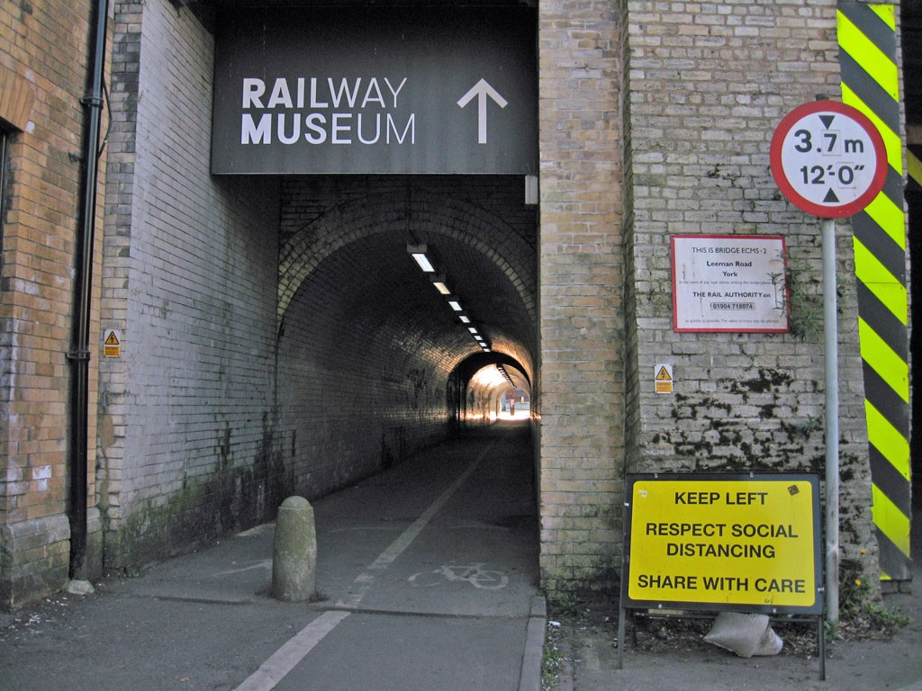 Grim looking entrance to pedestrian tunnel
