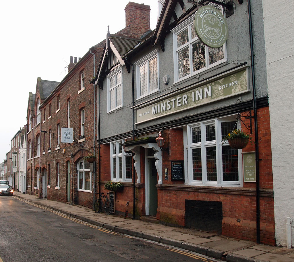 Marygate: Minster Inn and Post Office Social Club, 12 Jan 2018