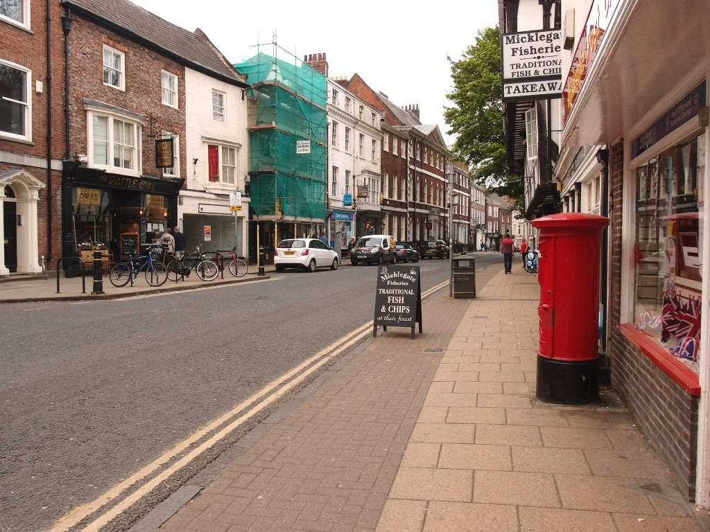 Micklegate, on the evening of 7 May 2016, at around 7.30pm, quiet and sedate