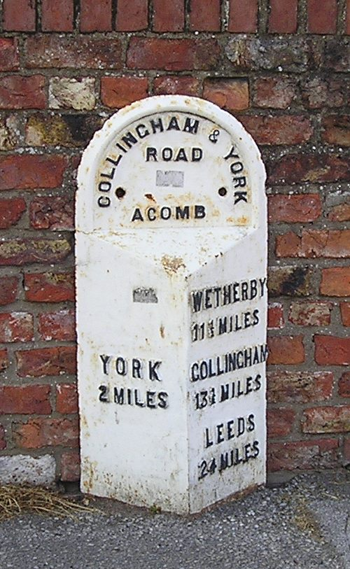 Milepost, York Road, Acomb, 3 July 2006