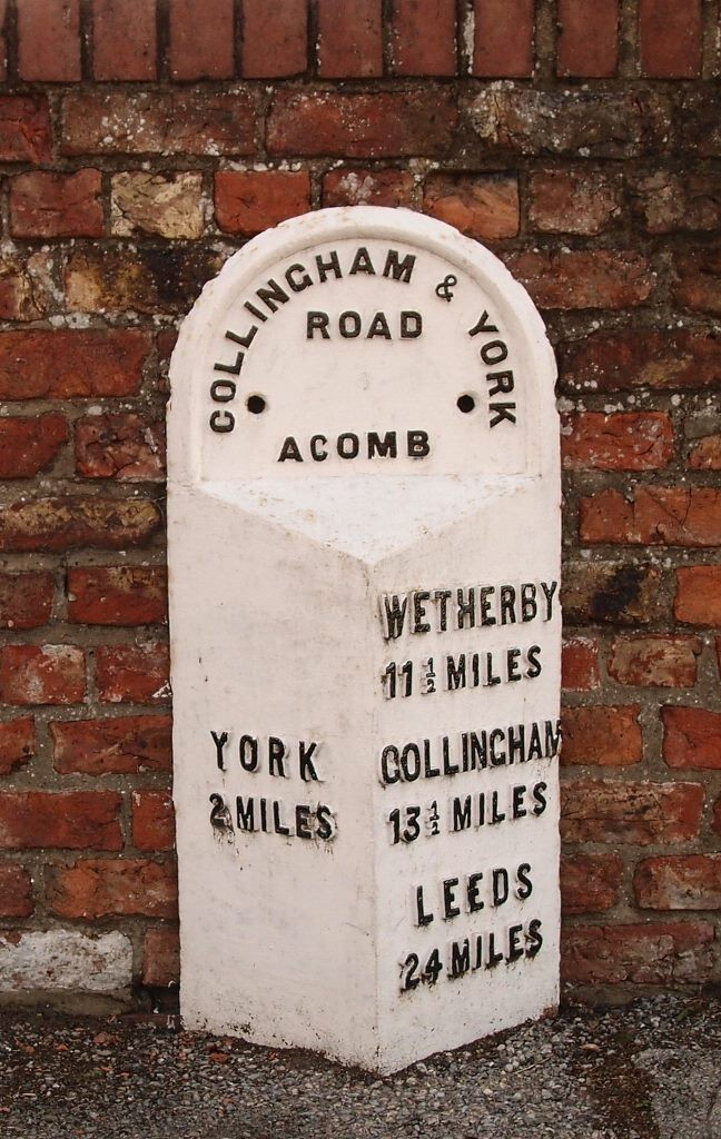 Milepost on York Road, Acomb, 3 July 2016