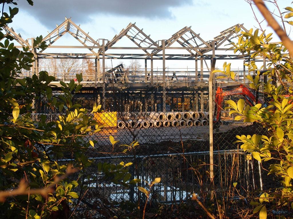 Construction underway: new mental health hospital, Haxby Road, 13 Dec 2018