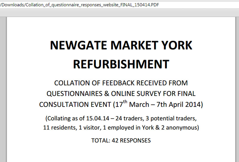 Consultation results document extract