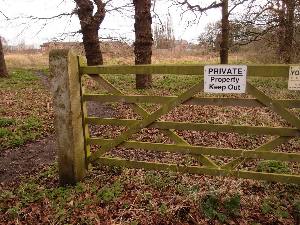 Private property, near Clifton Park, 24 Jan 2016