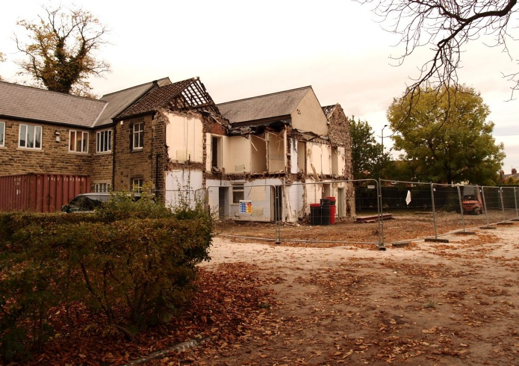 North Lodge demolition, 27 Oct 2016