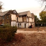 Demolition of North Lodge, Clifton