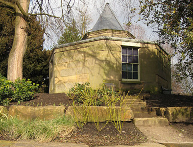 19th century observatory building and surrounding planting