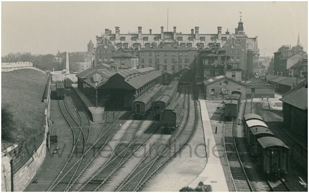 The old station, and the lines into it (source)