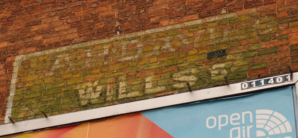 'Ghost sign' on the corner of Ordnance Lane and Fulford Rd