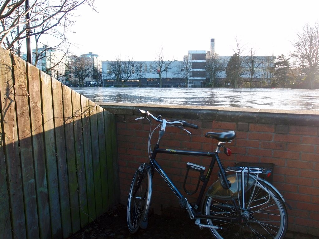 Flood defences by Scarborough Bridge, holding back the Ouse (view 1 of 2)