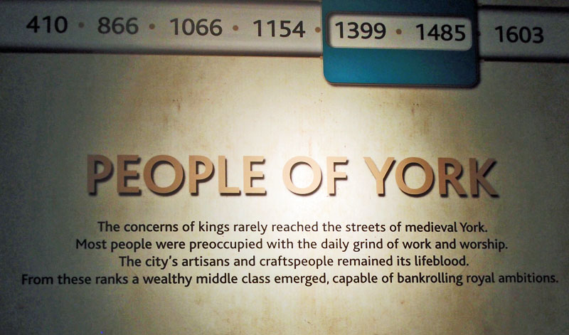 Museum display, text