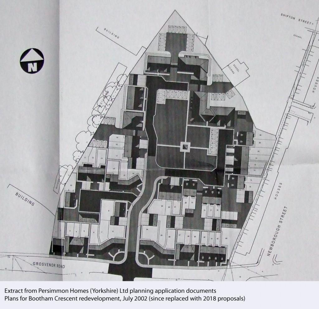 Black and white plan for housing development