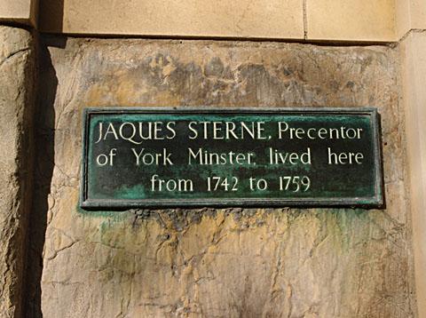 Jaques Sterne plaque