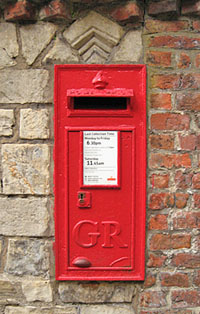 Post box, Minster Yard