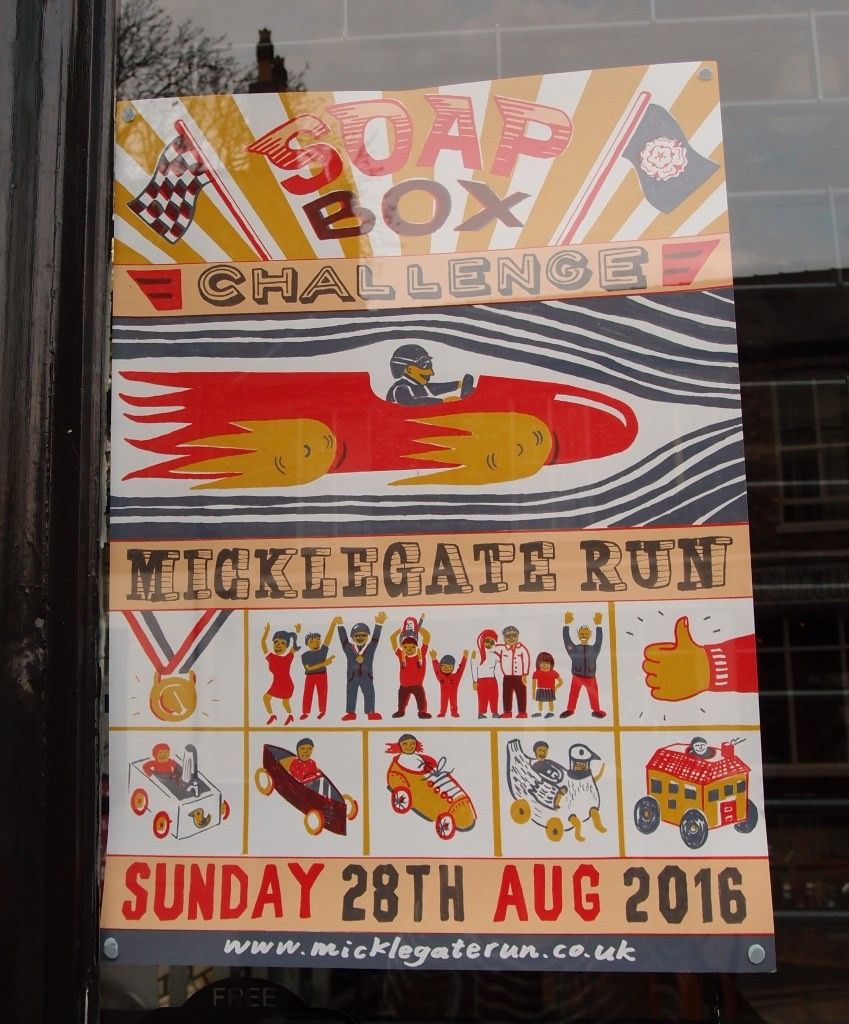 Poster for the 'soapbox challenge' 'Micklegate Run'